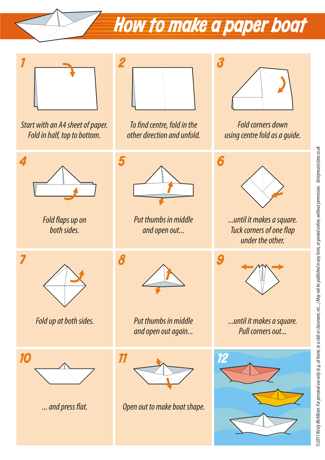 Make paper boat instructions