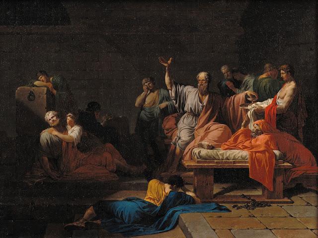 Jean-François Pierre Peyron - Sokrates' død