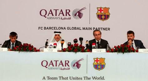 Acto conjunto de Qatar y el FC Barcelona