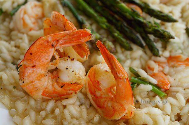 Risotto Shrimp and Wild Asparagus