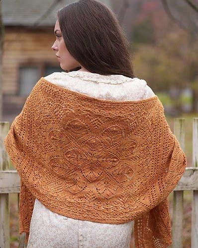 Knitting Pattern For Wedding Shawl : Tightly Knit: Wedding Shawl Musings