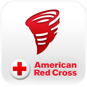 Logo for American Red Cross tornado app