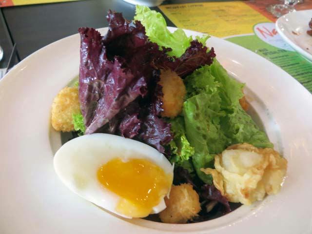 tofu green salad