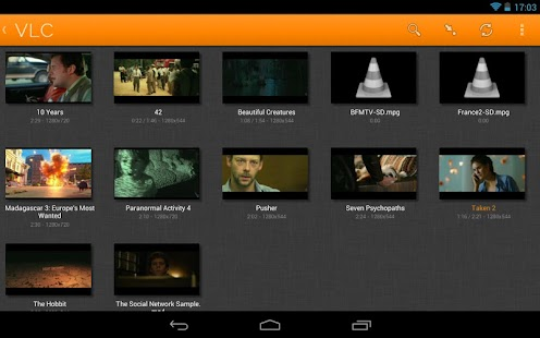 تطبيق VLC for Android Beta v0.1.3 القوي في تشغيل الميديا