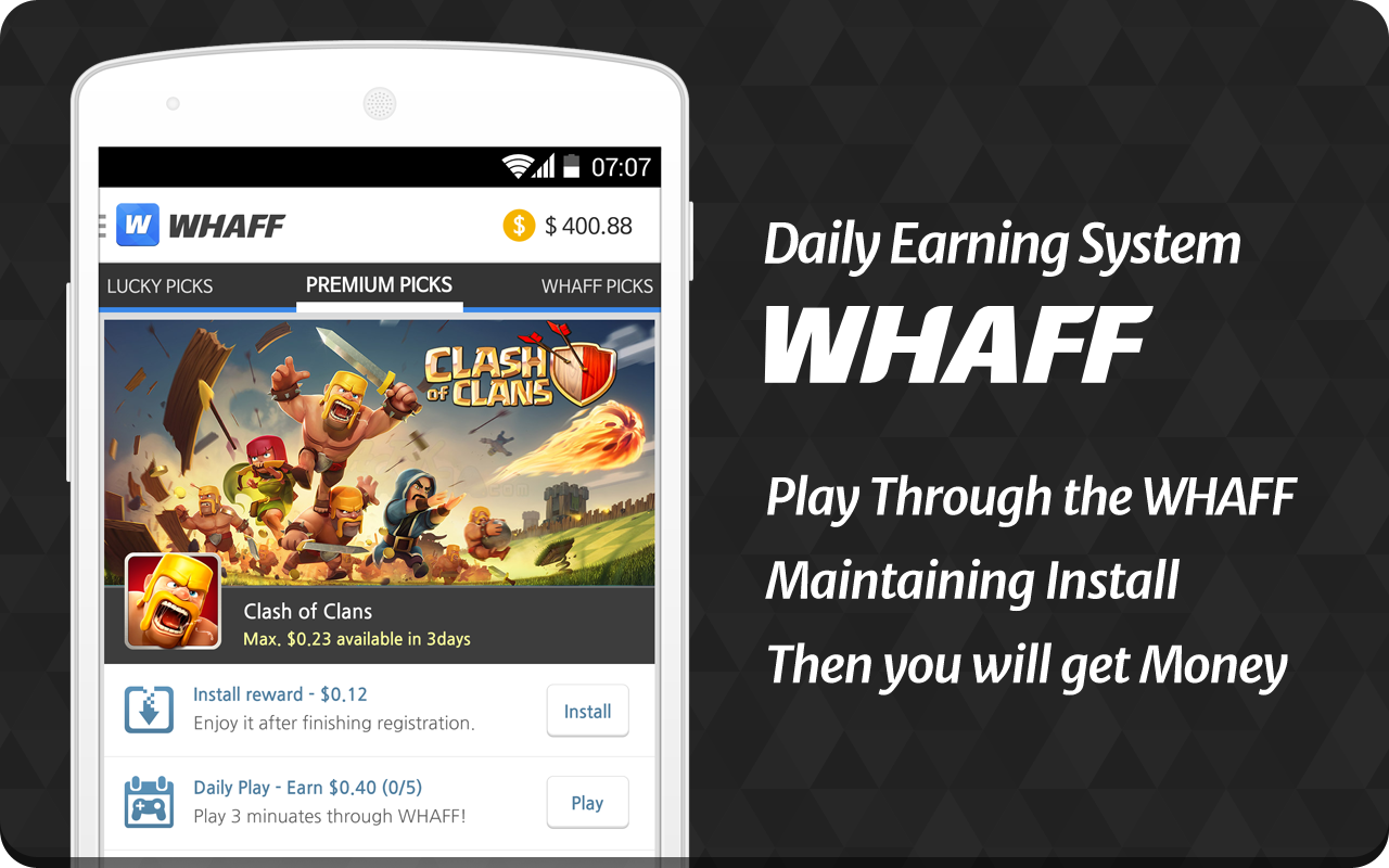 Whaff Rewards Android