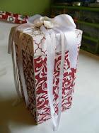 Pudełko handmade na prezent z okazji urodzin