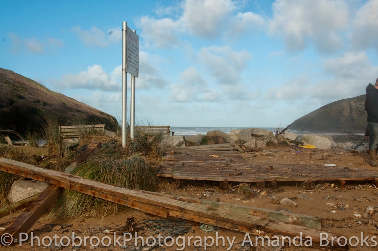 Mawgan Porth Storm Damage Feb 2014