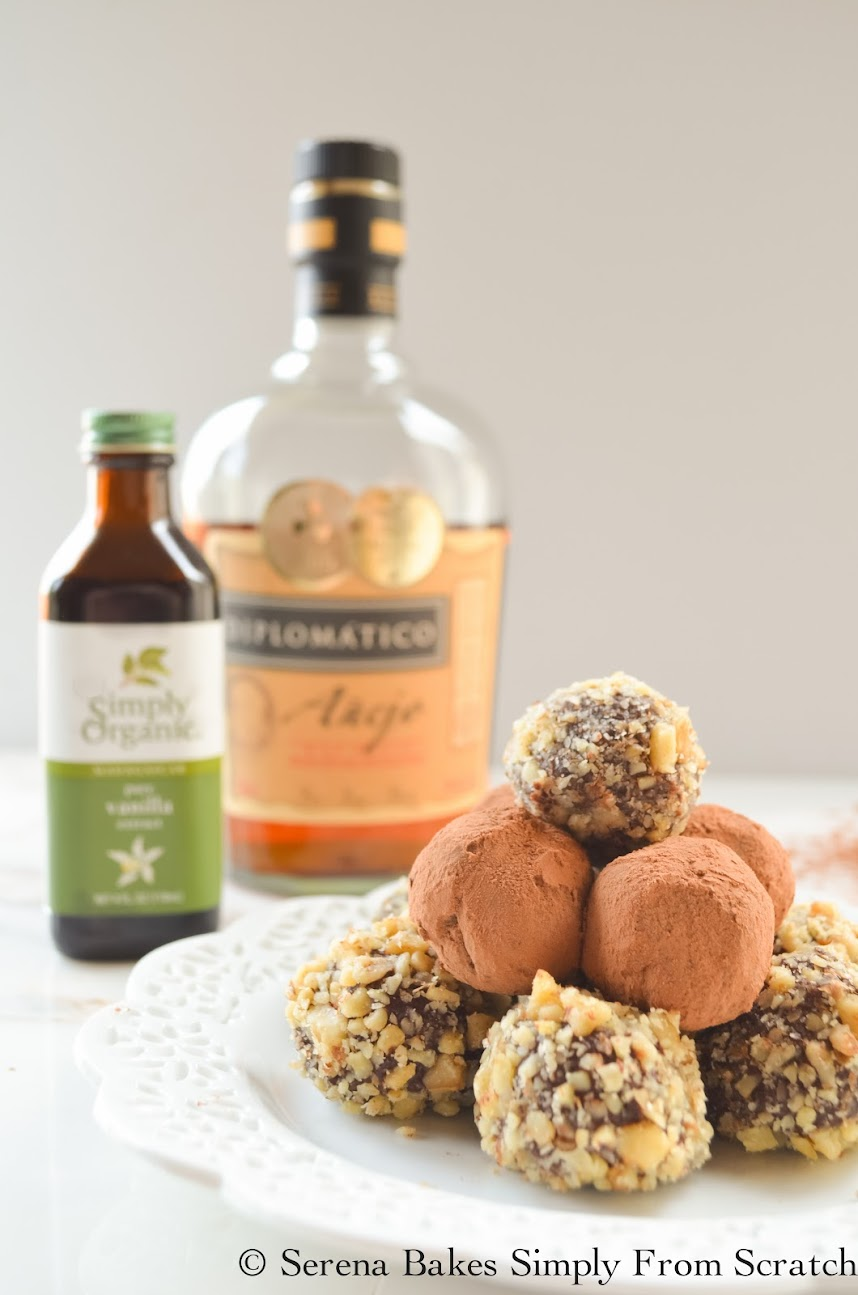 Chocolate Rum Truffles are perfect for New Years Eve or Valentines Day.
