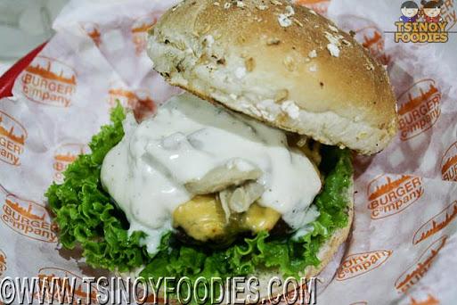 gorgonzola mushroom burger