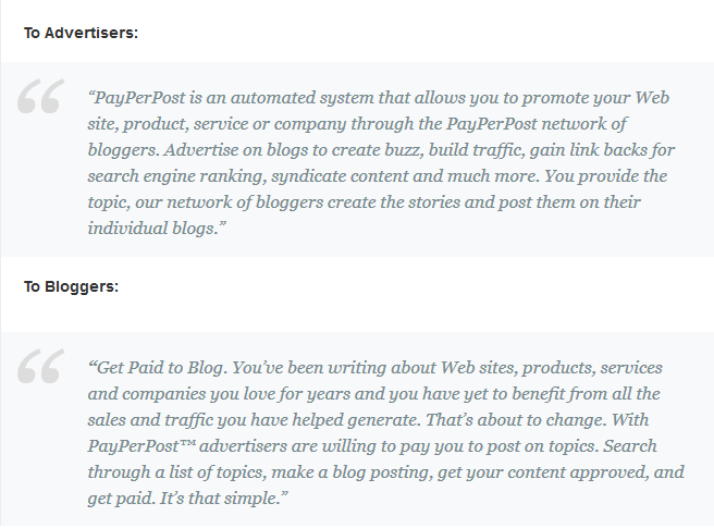 PayPerPost for Advertisers and for Bloggers : eAskme