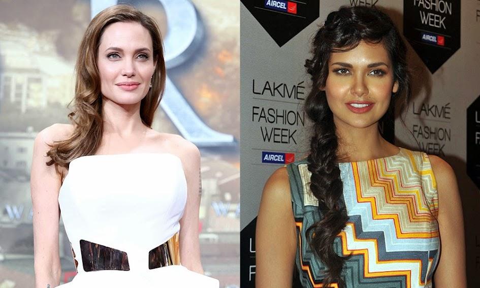 Angelina Jolie and Esha Gupta