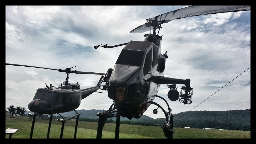 Helicopters on display at  Fort Indian Town Gap