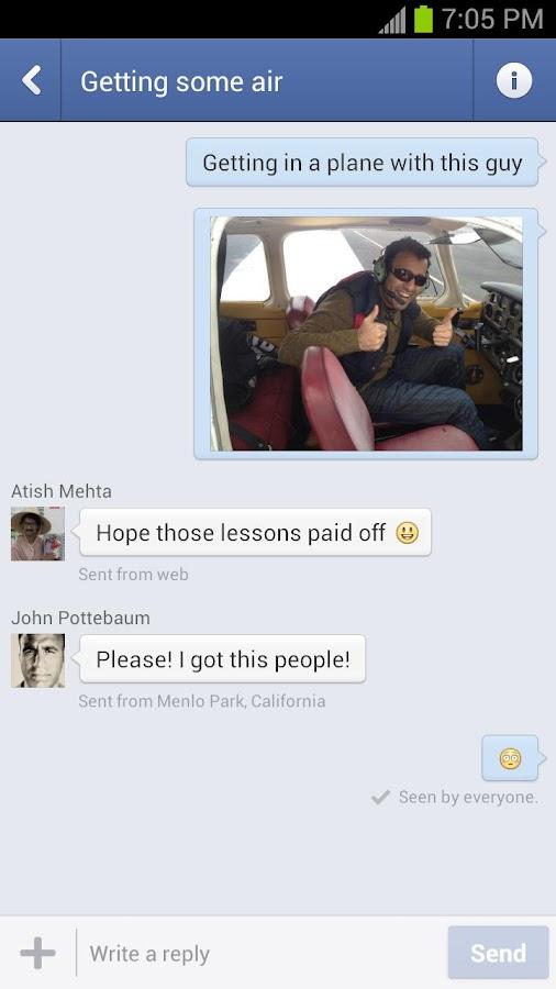 تطبيق Facebook Messenger v2.5.3 للمراسلة اصداقائك في الفيس بوك