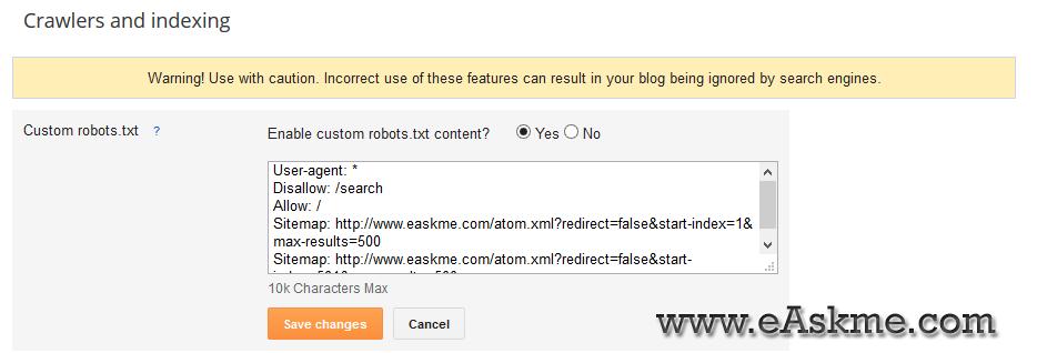Robots.txt : eAskme