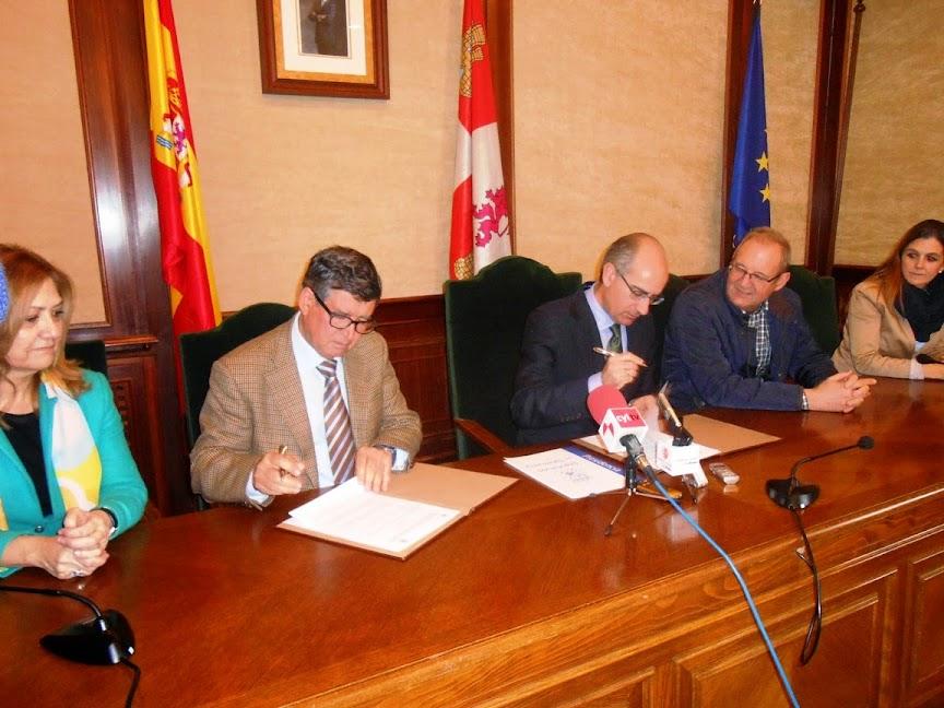 Visita del Presidente de la Diputación para la Firma del Protocolo de colaboración con el Ayto de Béjar