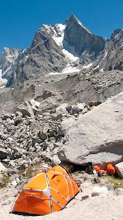 Mahindra looming above Base Camp