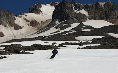 Mitch from TelemarkTips.com on Mount Hood in July