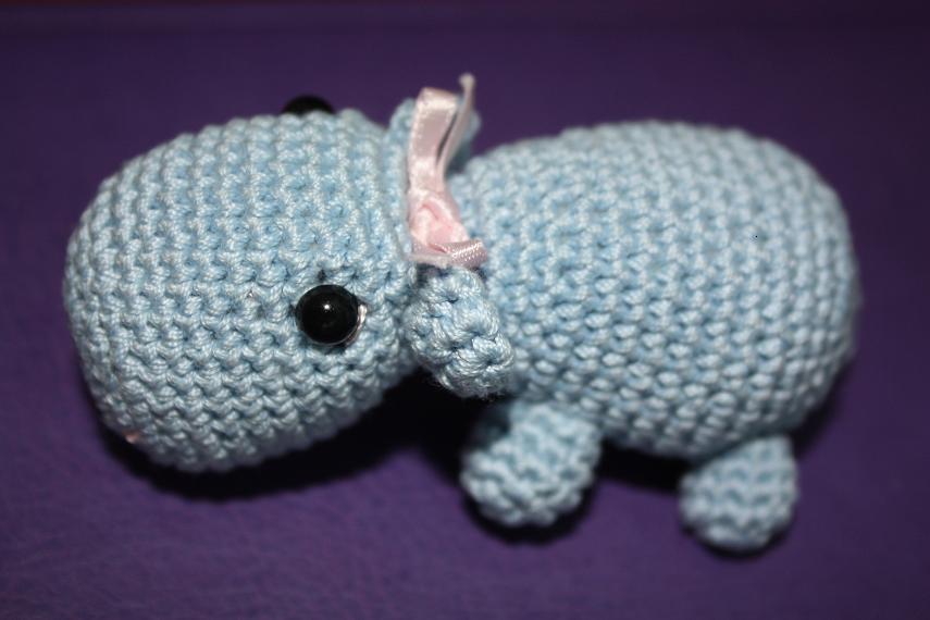 HAPPYAMIGURUMI: Cute Amigurumi HIPPO