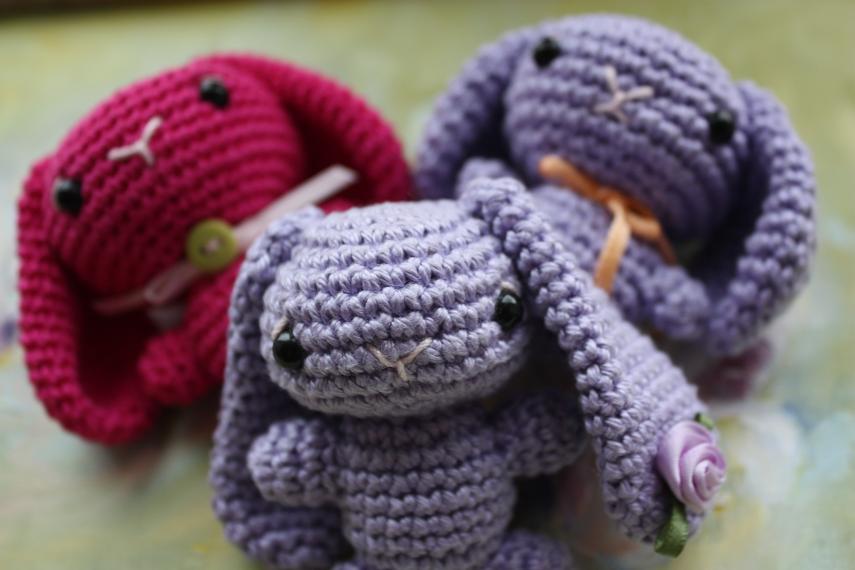 Small Amigurumi Bunny Pattern : HAPPYAMIGURUMI: Tiny amigurumi bunnies!