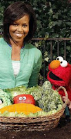 Michelle, Elmo and Talking Fruits (and not the fun kind)