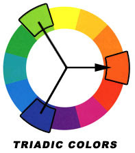 example of triadic color scheme submited images