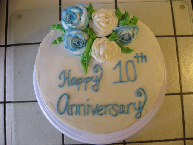 Sweet Things By Jenny 10th Anniversary Cake