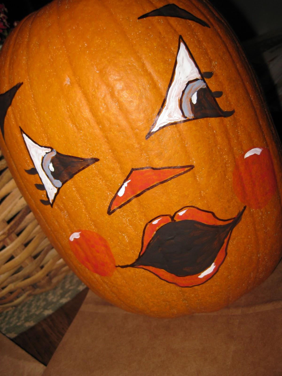 Bits & Pieces, This & That: Painted Pumpkin Faces