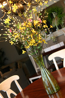 pretty faux forsythia really they dont look fake - Forsythia Arrangements