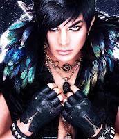 Adam Lambert Lee Cherry Frontiers feathers text-free photo