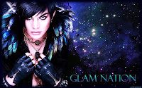 Adam Lambert Glam Nation space desktop wallpaper