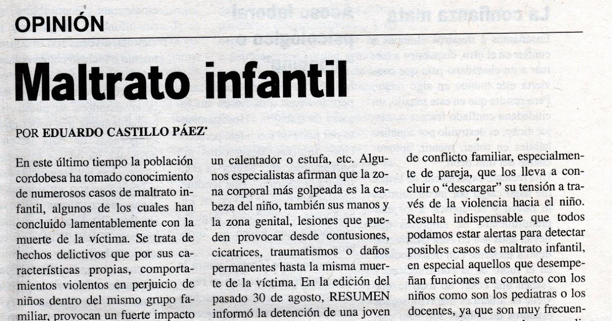 periodismo y opini 211 n maltrato infantil
