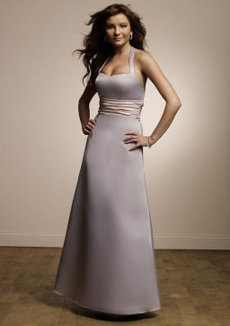 Mori Lee Solid Satin Gown Bridesmaid Dress