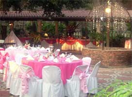 Wedding Reception Pink Costum Decorations Ideas
