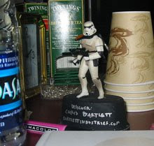 Little Trooper on Jerry O'Flaherty's desk