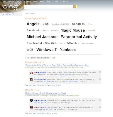 Twitter Bing SEO
