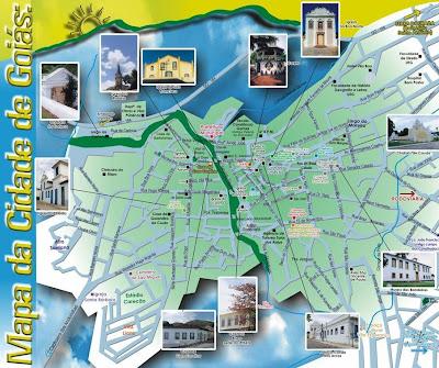 Mapa do Folder Turistico de Goiás