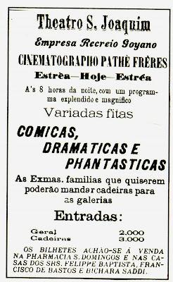 Primeiro Anúncio do Cinema