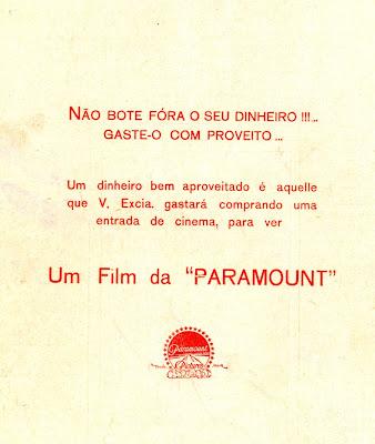 Comercial da Década de 20 - Paramount