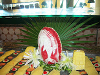 decoracion en sandía, hotel club tulum, riviera maya, cancun, caribe, mexico, decoraion with watermelon, Riviera maya, cancun, Mexico, caribbean, decoraion avec la pastèque, Riviera maya, cancun, Mexique, Caraïbes, vuelta al mundo, round the world, La vuelta al mundo de Asun y Ricardo