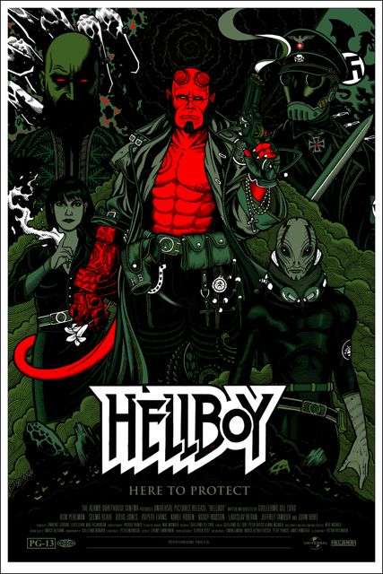 The Art of Florian Bertmer: Hellboy Movie poster