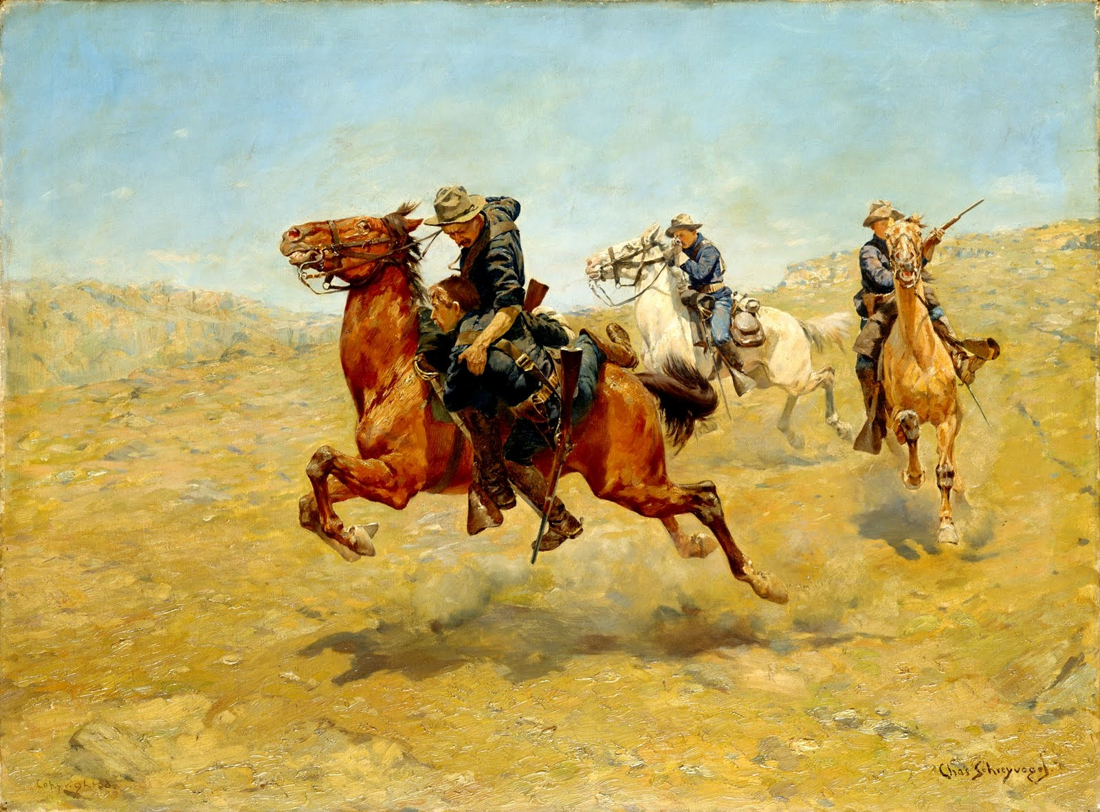 horse soldiers thesis Essay explores the potential contours of a theory ofreparations for native peo  ples, while  for murdering their patriot chiefs-men like sitting bull and crazy  horse,  camp individual soldiers pursued the indians, butchering them as they  ran.