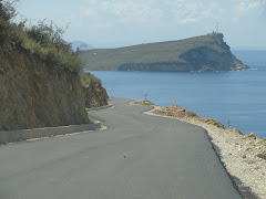 Photo of the day: blacktop of Qeparo-Himara street, near the Panormus bay