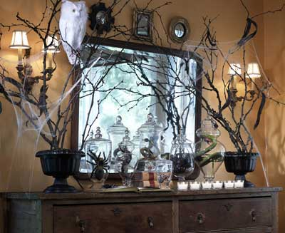 room to inspire decorating with branches halloween style