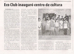 Ecoclub inaugur centro de cultura