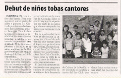 Debut de nios tobas cantores
