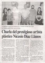 Charla del prestigioso artista plstico Nicasio daz Llanos