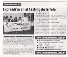 ExpresARTE en el Casting de la Tele