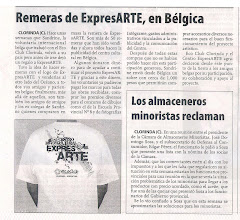 Remeras de ExpresARTE, en Belgica