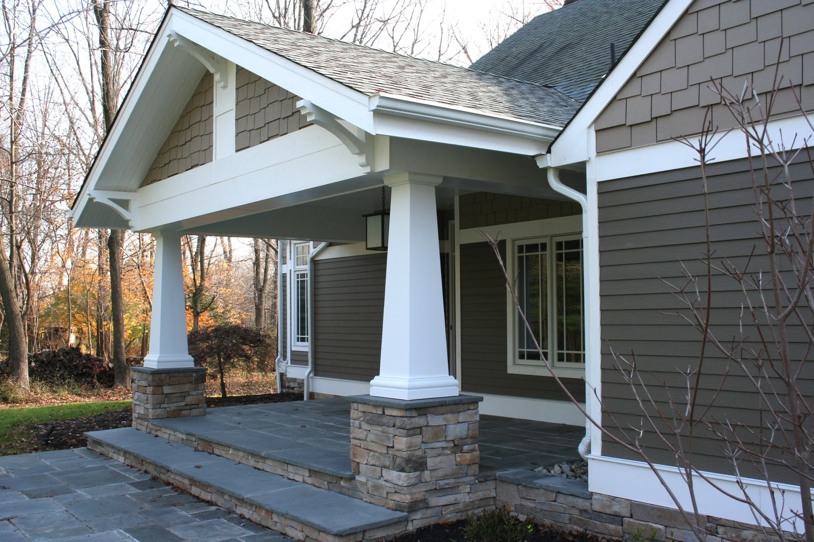 Inside architecture craftsman porch for Craftsman columns