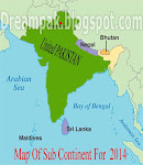 Map of South asia for 2014